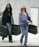Kate Hudson & husband shop at Maxfield in LA