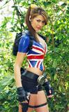 Karima Adebibe promotes Lara Croft: Tomb Raider: Legend