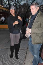Розарио Доусон, фото 1463. Rosario Dawson leaves Da Silvano Restaurant in New York, december 23, foto 1463