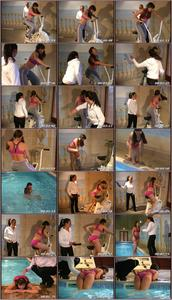 Pool Punishment Spanking