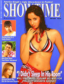 Sangeeta 'Pammi' Ghosh in a sexy bikini on the cover of Showtime magazine